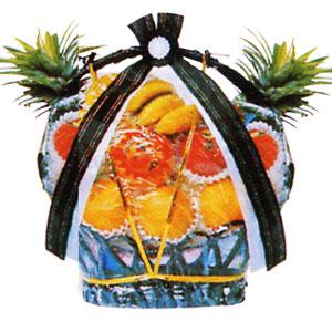 バスケットタイプの果物詰合